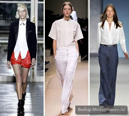 Fashionable women's white shirt 2012
